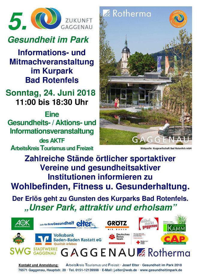 Gesundheit Im Park 2018 Aktf Gaggenaude